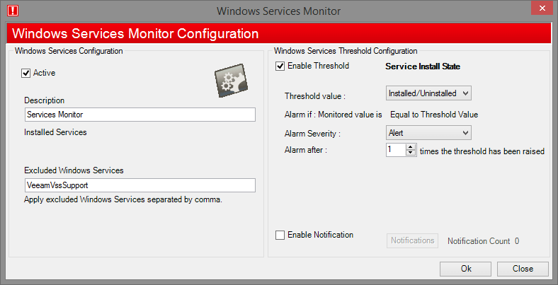 Windows Services Monitor WMI
